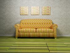 Modern Interior Design With A Sofa Stock Image