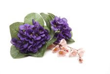 Flower Jewelry And Flowering Branch Royalty Free Stock Photos