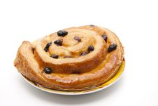 Pastry With Raisins Stock Image