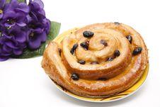 Free Pastry With Raisins Stock Photo - 18641530
