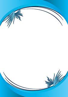 Free Blue Decorative Flowers Stock Image - 18641731