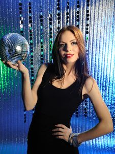 Free Attractive Sexy Woman Dancing In The Disco Royalty Free Stock Photos - 18641868