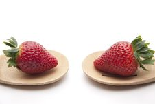 Free Strawberry Onto Cook Spoons Royalty Free Stock Photography - 18642097