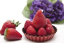 Free Strawberries In The Back Form Royalty Free Stock Photos - 18642228