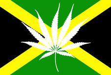 Free Jamaican Flag Marijuana Leaf Stock Images - 18643134