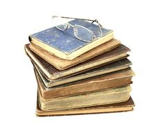 Free Antique Books And Reading Glasses Stock Images - 18643794