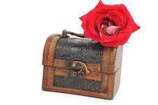 Free Treasure Chest And Rose Stock Photo - 18644180
