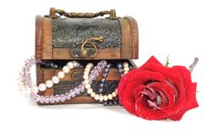 Treasure Chest With Jewelry Royalty Free Stock Image
