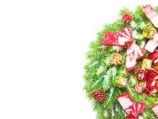 Free Green Branches Of A Christmas Tree Royalty Free Stock Images - 18644699