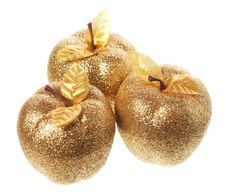 Golden Apple Royalty Free Stock Photography