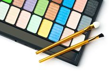 The Palette For Makeup Royalty Free Stock Photos