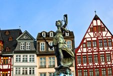 Free Statue Of Lady Justice In Front Of The Romer Stock Images - 18645184