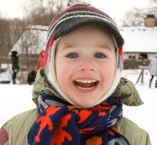 Free A Joyful Boy In Winter Royalty Free Stock Photos - 18645578