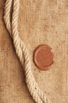 Free Wax Seal And Rope Stock Images - 18645974