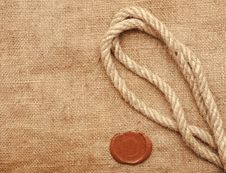 Free Wax Seal And Rope Stock Images - 18646054