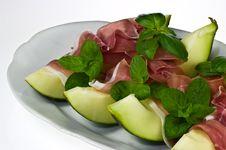 Free Prosciutto Con Melone Royalty Free Stock Image - 18646126