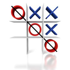 Free Tic Tac Toe On A White Background Stock Photos - 18647073