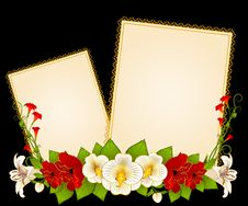 Free Flowers And Lace Ornaments Royalty Free Stock Photos - 18647968