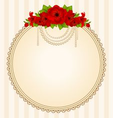 Free Flowers And Lace Ornaments Royalty Free Stock Photo - 18647975