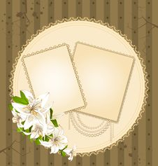 Free Flowers And Lace Ornaments Royalty Free Stock Image - 18647986