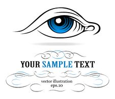 Blue Eye Icon Stock Photos