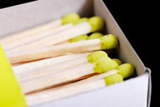 Free Green Matchsticks. Stock Images - 18649184
