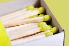 Free Green Matchsticks. Stock Photography - 18649192