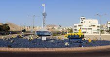 Free Decorative Circled Square, Eilat, Israel Stock Photos - 18649383