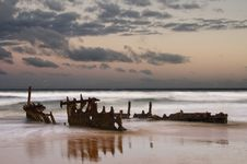 Free Shipwreck Sunrise Stock Images - 18649454