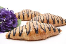 Pastry With Chocolate Stock Image