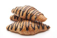 Free Croissant With Chocolate Stock Photography - 18649732