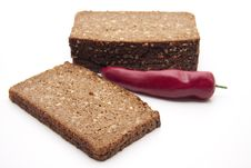 Free Chilli With Wholemeal Bread Royalty Free Stock Image - 18649996