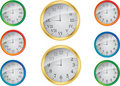 Free Vector Clock Set Royalty Free Stock Photography - 18658747