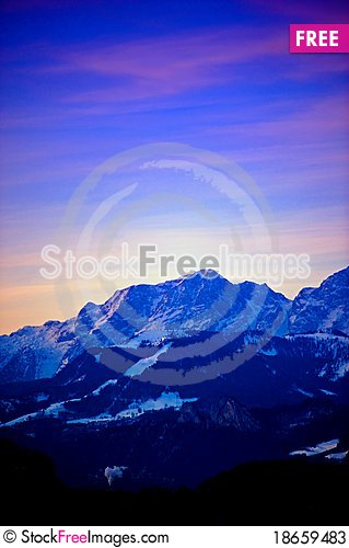 Earliy morning at the Alps Stock Photo