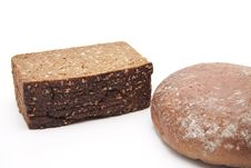 Wholemeal Bread And Wheat Bread Stock Image