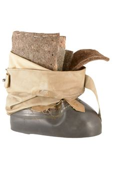 Winter Fishing Boots Royalty Free Stock Images