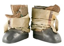 Winter Fishing Boots Stock Photography