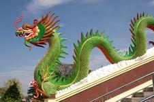 Sculpture Of Dragon Stock Photo