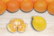 Lemon Vs Oranges Stock Photos