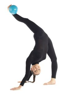 Free Gymnastic Posing On White Royalty Free Stock Image - 18650906