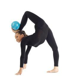 Free Gymnastic Posing On White Royalty Free Stock Photos - 18650908