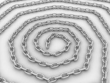 Spiral Link In The Chain, The Chain Of Steel №1 Stock Image