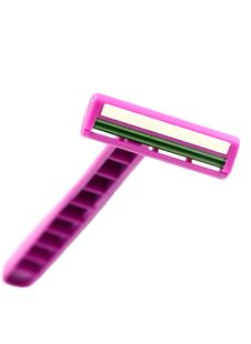 Isolated Pink Safety Razor Royalty Free Stock Photography