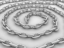 Free Spiral Link In The Chain, The Chain Of Steel №3 Royalty Free Stock Image - 18650986