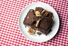 Chocolate Sweet With Walnuts Stock Images