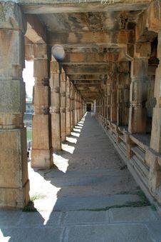 Stone Pillared Corridor Royalty Free Stock Photo
