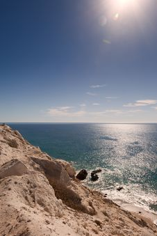 Free Cliffs Overlooking Sea Of Cortez Stock Images - 18656994