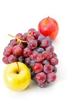 Free Grapes And Apple Royalty Free Stock Image - 18657096