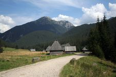 The Home In Tatry Mountains Stock Photos