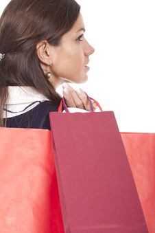 Free Woman Holding Shopping Bags Stock Photo - 18658380